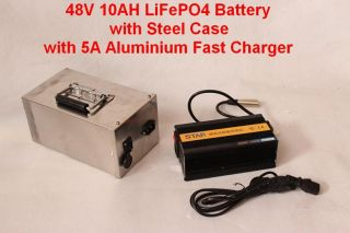Wholesale Newest Cheap 48V 10AH LiFePO4 Battery with Steel Case bms