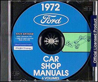1972 Lincoln Repair Shop Manual CD Town Car Continental and Mark IV 4
