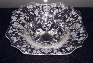 Gorgeous Cambridge Rose Point 4 Footed Flared Rim Bowl
