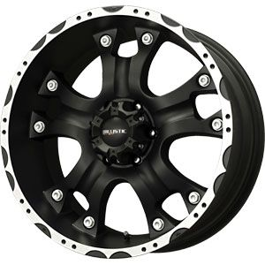 New 18X9 6 135 Hostel Matte Black Machined Wheel/Rim