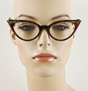 Cat Eye Sexy Tortoise Clear Lens Glasses Crystals Eyeglasses Frames