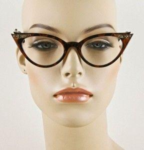 Cat Eye Sexy Tortoise Clear Lens Glasses Crystals Eyeglasses Frames