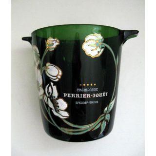 Perrier Jouet Champagne Ice Bucket Vintage Belle Epoque Green Glass