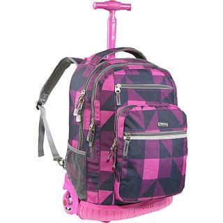 World Sundance Laptop Rolling Backpack Block Pink
