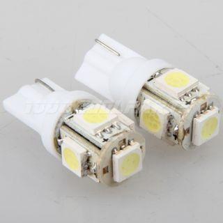 White T10 Wedge 5 SMD 5050 LED Light Bulbs 192 168 194 2825 158