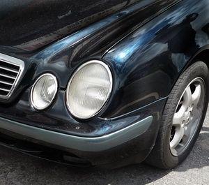 Benz W208 CLK Chrome Head Lights Lamps Surround Frame Rims
