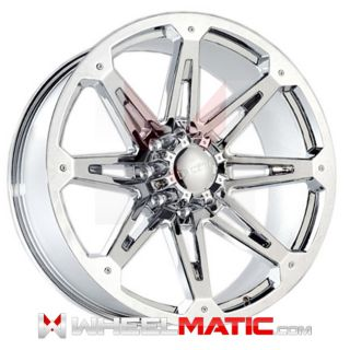 22 8x165 Dcenti DW901 Chrome Wheels Rims Well Beat Any Price