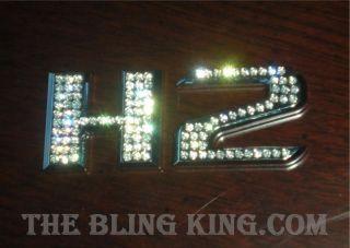 Hummer H2 Iced Out EMZ Swarovski Crystal Chrome Emblems