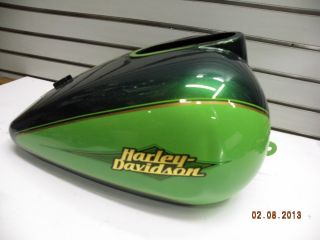 Harley Gas Fuel Tank Touring Classic Ultra Green Envy 2007 FL Road