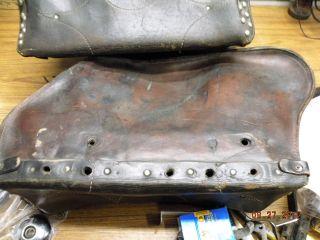Vintage Leather Saddl Harley Panhead Shovelhead Knucklehead FL