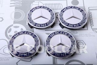 X4 Genuine Mercedes Benz Wheel Center Caps C E s SL SLK CL CLS CLK ml