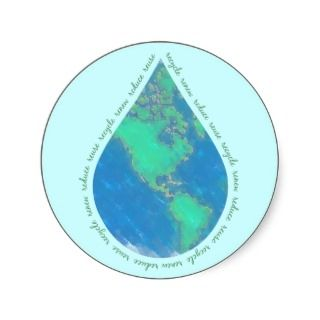 Water Drop Earth Stickers
