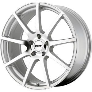New 18X8 5 100 Interlagos Silver Machined Face Wheels/Rims