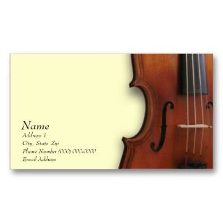 Violin Viola Business Card for The Violin Site