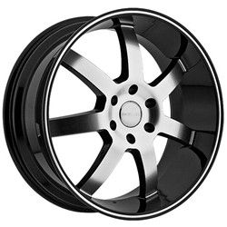 22 inch Menzari Z09 Black Wheels Rims 6x5 5 6x139 7 15 Tahoe Avalanche