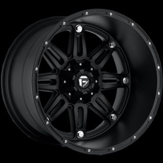 20x14 Black Wheel Fuel Hostage 8x170