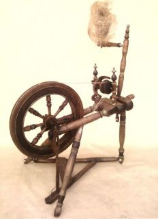 Antique Lithuanian Spinning Wheel 1880