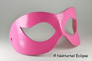 Pink Leather Mask Costume Role Play Mardi Gras Party