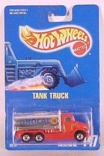 Hot Wheels Blue Card Collector 147 Unocal Tank Truck