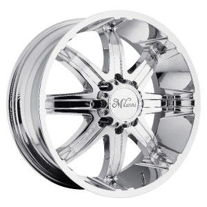 24 inch Milanni Kool Whip Chrome Wheels Rims 8x6 5 8x165 1 18
