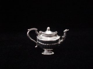 Exceptional Vintage /Antique Miniature Solid Sterling Silver Tea and
