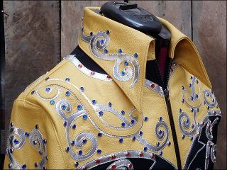 Western Horsemanship Riding Showmanship Rail Pleasure Jacket Shirt Med