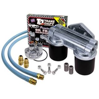 Trans Dapt 1222 Oil Filter Relocation Kit Dual Filter 30 Length Hoses