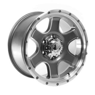 Summit Racing Nomad Diamond Cut Wheel 17x9 6x135mm Set of 2