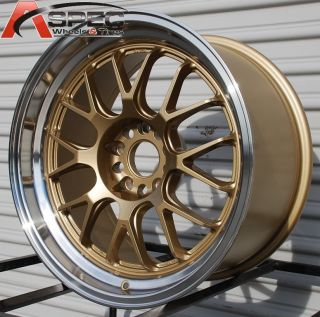 18X9.5 ROTA MXR R 5X114.3 +38 ROYAL GOLD WHEEL FITS TSX ACCORD ECLIPSE