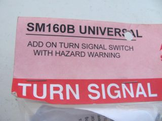 Shee Mar SM160B Universal Turn Signal Switch Black Rat Rod Tractor