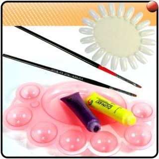 12 Colours Mix 3D Paint Nail Art UV Gel Acrylic Polish Brush Pen