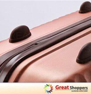 New Fashion Pyramid Trolley Luggage Travel Hard Case Orange Gold Pink