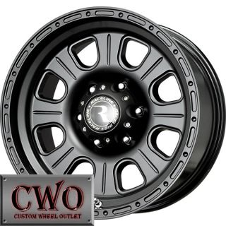 17 Black Raceline Monster Wheels Rims 8x165 1 8 Lug Chevy GMC Dodge