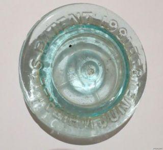 Millville Atmospheric Fruit Jar Whitalls Patent 1861 2 Qt Large RARE