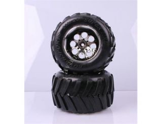Knobby Wheels Tires Tyre Assy for 1 5 Scale FG Big Monster Truck 2pcs