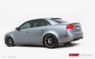 19x8 5 VMR 718 Gun Metal Wheel 5x112 Fit Audi A4 A5 A6 A8 S4 Allroad