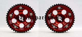 OBX Cam Gears 01 06 Chrysler PT Cruiser 2 4L Red 2 Pcs