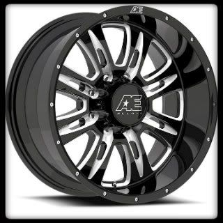 10 AMERICAN EAGLE 016 BLACK MACHINED 8x170 FORD F250 F350 WHEELS RIMS