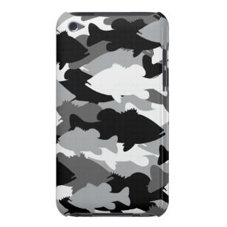Bass Fishing Black Camo Barely There iPod Cover