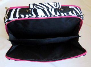 17 Computer Laptop Briefcase Bag Padded Travel Luggage Case Zebra