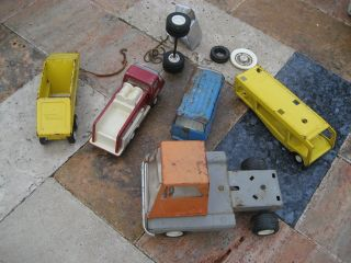 Lot of Vintage Tonka 1960s Trucks and Miscellaneous Parts Tires Model
