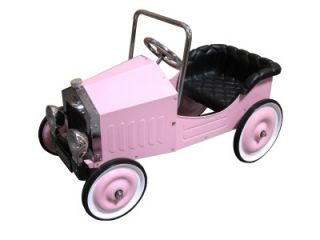 New Childs Classic Vintage Girls Pink Sports Pedal Car Ride on Toy