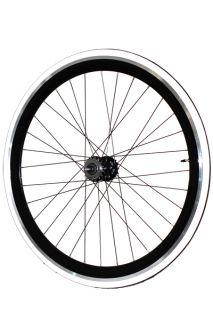 Fixie Freewheel Track Wheel Wheelset Deep V White Tires CNC Black