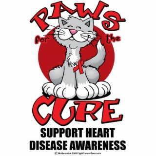 Paws for the Cure Cat Heart Disease Cut Outs