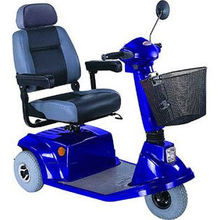 CTM HS 570 3 Wheel Mid Range Electric Mobility Scooter Blue
