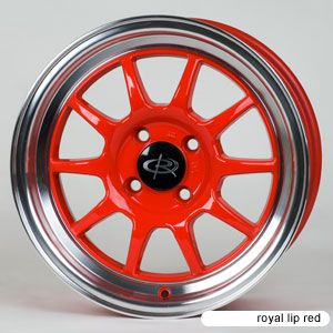 Rota GT3 15x7 4x100 ET40 67 1 Hub Red Rims Wheels