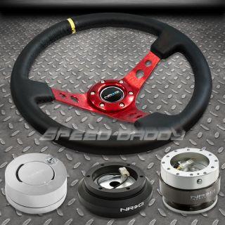 NRG 006RD Steering Wheel Hub Silver Quick Release Lock Kit 88 91 Civic