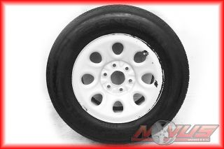17 GMC Sierra Chevy Silverado Tahoe Wheels Tires Steel Silver Painted