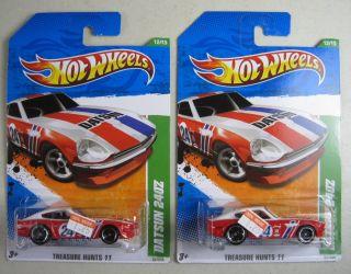 Lot 2 2011 Hot Wheels Treasure Hunt 62 Datsun 240Z