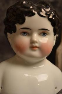 RARE Beautiful Antique Low Brow China Doll Head Molded Hair do Mold